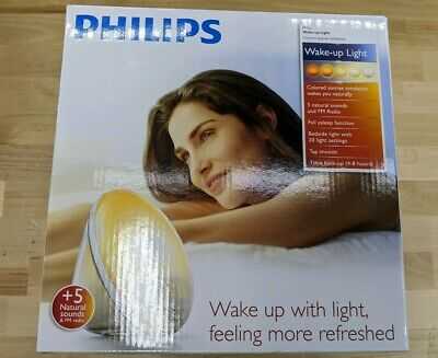 Philips HF3520 60 E Wake-Up Light With Colored Sunrise Simulation - White