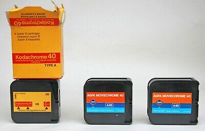 3 x SUPER 8 FILMS FOR DISPLAY, 1 X KODAK WITH MAILING BAG & ETC + 2 x AGFA