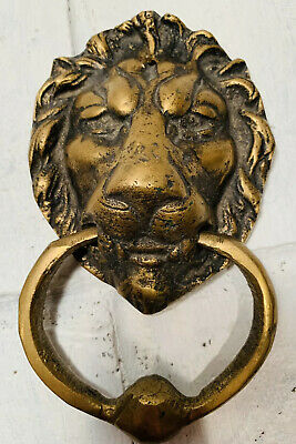 Antique Brass or Bronze Lion's Head Door Knocker - No Reserve!