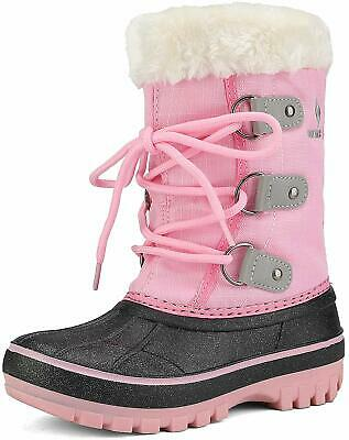 DREAM PAIRS Boys & Girls Toddler/Little Kid/Big Kid Faux, Grey Pink, Size 1.0 fQ