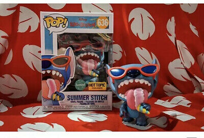 Funko Pop DISNEY Lilo and Stitch SUMMER STITCH Hot Topic Excl NEW IN HAND 💥