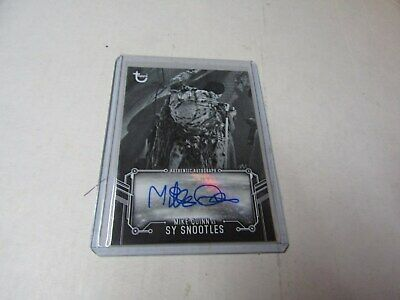 MIKE QUINN, as SY SNOOTLES  2020 STAR WARS B & W RETURN of the JEDI AUTOGRAPH