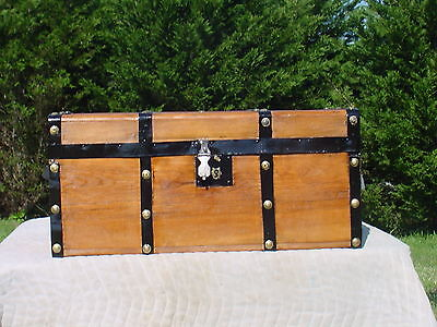 Antique Trunk   Beautiful  Restoration   Circa 1840/60's - 180 Years Old?