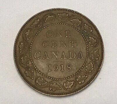 1918 Canada One Large Cent nice