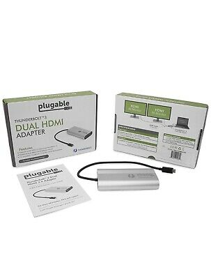 Plugable Thunderbolt 3 Dual Monitor Adapter - USB-C to HDMI for Mac and Windows