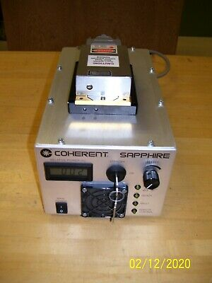 "Coherent ""Sapphire"" 488-20 CDRH Laser System Tested SLM!  HOLOGRAPHY !"