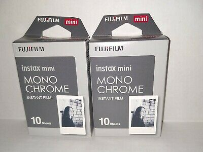 Set of 2: Fujifilm Instax Mini Monochrome Instant Film 20 Sheets Total Exp 03/20