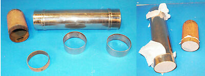 Nickel Plated Silk Production tube with brass flesh colored insert-v.FINE-AF