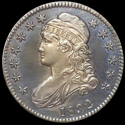 1832 Capped Bust Half Dollar APPEARS UNCIRCULATED Philadelphia ms bu 50c Silver!