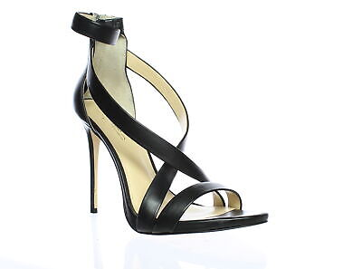 Imagine by Vince Camuto Womens Devin Black Ankle Strap Heels Size 10 (910130)
