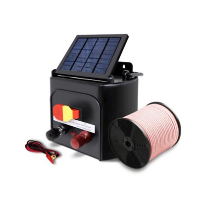 5km 0.15J Solar Electric Fence Energiser Charger with 400M Tape