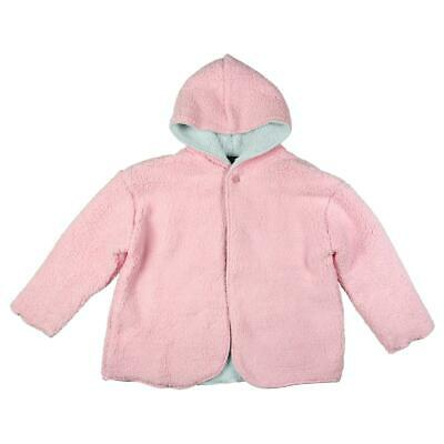 Limited Too Girls Pink Sherpa Reversible Jacket Cardigan Sweater S 7 BHFO 3091