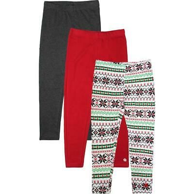 Limited Too Girls White 3 Pack Holiday Fair Isle Leggings S 7/8 BHFO 2389