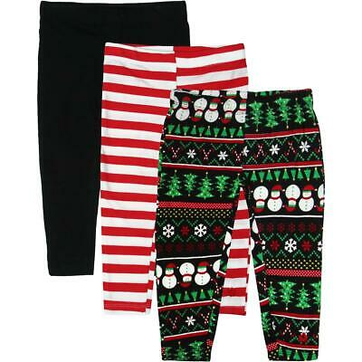 Limited Too Girls Black 3 Pack Holiday Set Leggings 3T BHFO 2050