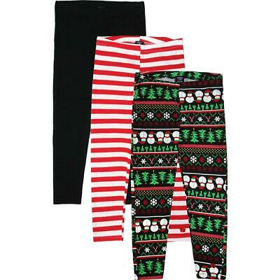 Limited Too Girls Black 3 Pack Holiday Set Leggings M 10/12 BHFO 2127
