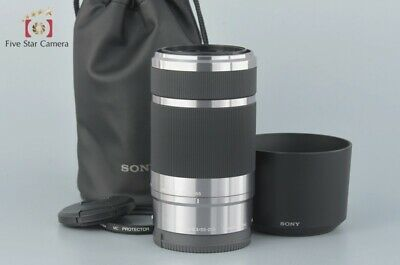 Excellent-!! Sony E 55-210mm f/4.5-6.3 OSS SEL55210 Silver w/ Case