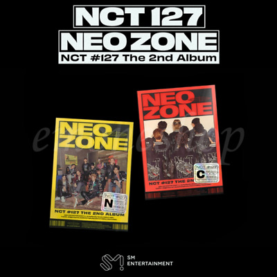 NCT 127 NCT #127 NEO ZONE 2ND ALBUM PACKAGE CD+Photobook+Poster+Photocard+etc.