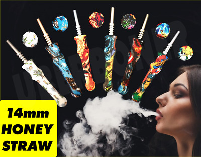 """7.5"""" Silicone Tobacco Herb Hand Pipe Straw  Free Shipping 3 In 1 🥴️💥🥴️💥🥴️🆕"""