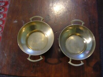 A Pair Of Brass Arts And Crafts Style Bowls.