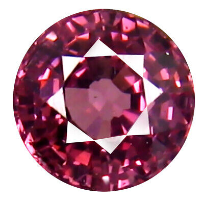 0.77 CT AAA + Exquis Forme Ronde (5 X 5 mm) Rose Malaya Gemme Grenat