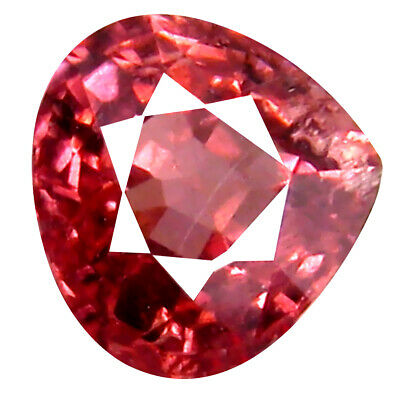 0.97 CT AAA + Great Style Poire Forme (6 X 6 mm) Rose Malaya Gemme Grenat