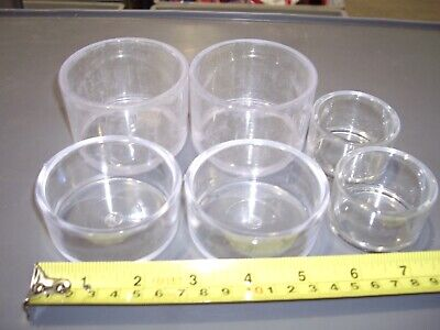 ROUND PLASTIC DISHS (packs of 10) White or Clear