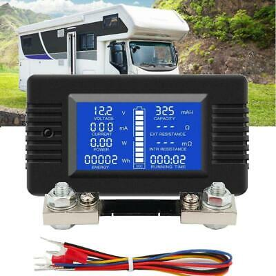 LCD Display DC Battery Monitor Meter 0~200V Voltmeter Ammeter For RV Car Solar