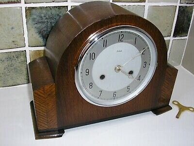 RESTORED 1930's 'PURE' ENFIELD STRIKING MANTLE CLOCK