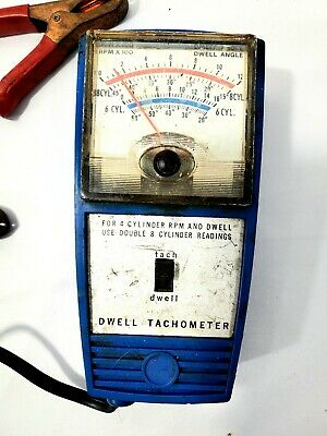 The all American Vintage Dwell Tachometer 549  Tach 4-Cylinder RPM