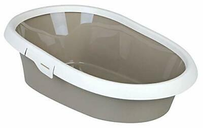 Trixie Paulo Extra Large Cat Litter Tray Toilet With 58 x 39 x 17 cm Taupe/Cream