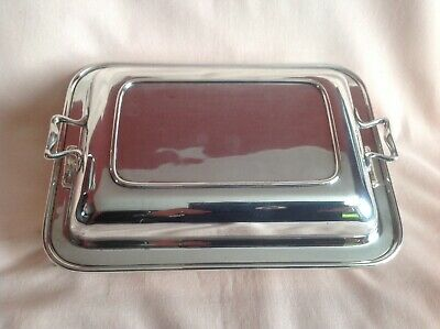 Art Deco Rare Harrods Silver Plate Serving Platter In Good Used Vintage Cond.