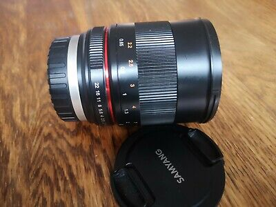 Samyang 85mm f1.8 ED UMC CS Lens - Fuji X Mount - Perfect Working Order