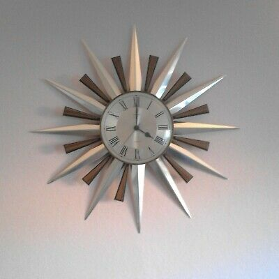 Original Retro Vintage 1960s/70s Metamec Starburst Sunburst Wall Clock