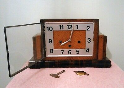 Art Deco Westminster Chimes Mantle Clock in Working Order