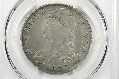 1807 Capped Bust Half Dollar, Large Stars 50/20, PCGS VF-20