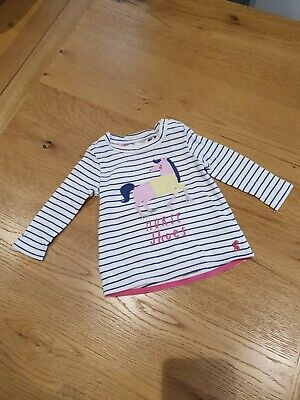 Joules Baby Girl 'Horse Shoes' Striped Long Sleeve Top 3-6 Months