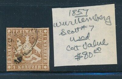 Own Part Of Wurttemberg Stamp History 1 Issue Cat Value $80.00
