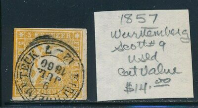 Own Part Of Wurttemberg Stamp History 1 Issue Cat Value $14.00