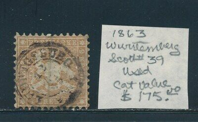 Own Part Of Wurttemberg Stamp History 1 Issue Cat Value $9.50