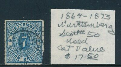 Own Part Of Wurttemberg Stamp History 1 Issue Cat Value $17.50
