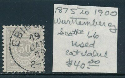 Own Part Of Wurttemberg Stamp History 1 Issue Cat Value $40.00