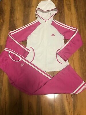 Adidas Girls Pink Tracksuit Age 9/10 Years Old