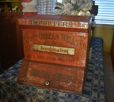 Antique 19th c Advertising General Store Counter Bin *