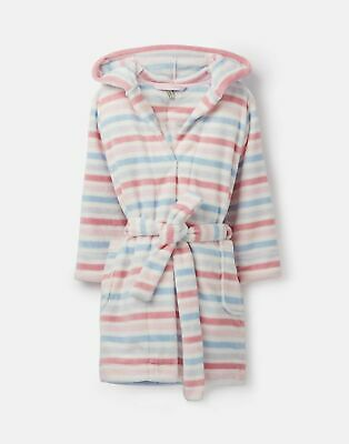 Joules Girls Teddy Dressing Gown - MULTI STRIPE