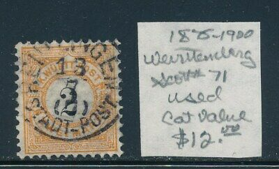 Own Part Of Wurttemberg Stamp History 1 Issue Cat Value $12.00