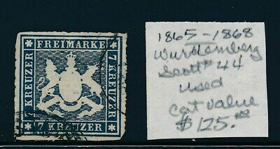 Own Part Of Wurttemberg Stamp History 1 Issue Cat Value $125.00