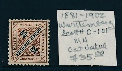 Own Part Of Wurttemberg Stamp History 1 Issue Cat Value $35.00