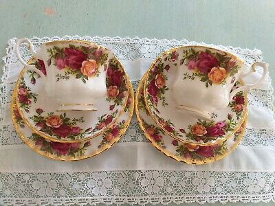 Royal Albert  'Old Country Roses'  2 X Trios   -  Cup, Saucer &  Tea  Plate