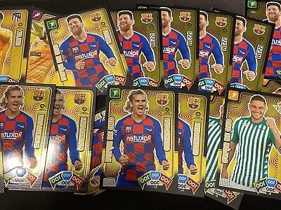 5 Balones De Oro + 24 Super Cracks + Card Invencible Adrenalyn Xl 2019-2020 -