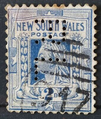 Gran Bretaña. Australia. New South Wales Two Pence Queen Victoria Postage Stamp